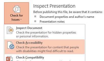 PowerPoint Accessibility Checker kick off.